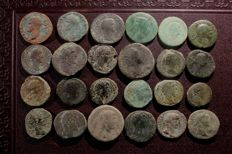 Roman Empire - Lot consisting of 24 early Roman AE coins (24x)