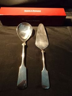 Robbe & Berking 2 Serving Cutlery Lot - Alt-Spaten -  Massive Silver Plated ( 150 gr )