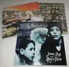 1 double albums of Led Zeppelin/ 1 lp of Led Zeppelin and 1 double album of Jimmy Page and Robert Plant  / Houses of the Holy / Physical Graffiti and Walking into Clarcks Dale
