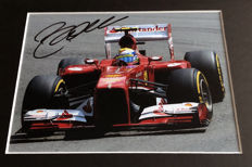 Framed photo, authentic and personally hand signed by Felipe Massa