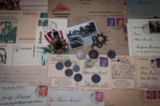 WWII German medal, insignia and personal items