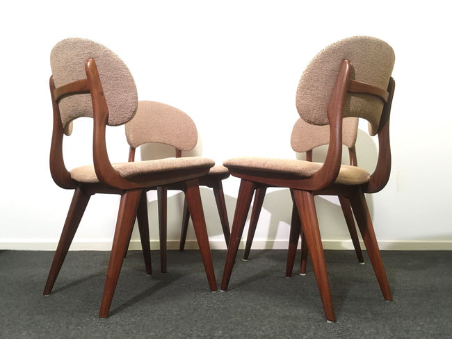 Strange Designer Unknown Set Of 4 Mid Century Modern Chairs Catawiki Gmtry Best Dining Table And Chair Ideas Images Gmtryco