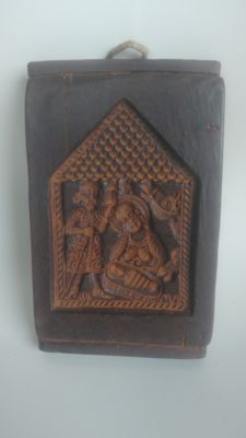 copy of Christmas icon made of beeswax - Germany