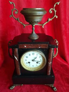 """19th century French clock, style Napoleón III """"machinery hapy freres & co."""