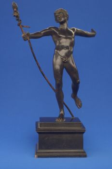 Bronze sculpture of Dionysus as a young satyr - Italy - mid-19th century