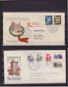 The Netherlands 1950/1951 - FDC University and Summer - NVPH E3 + E5