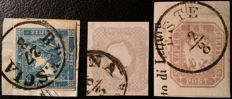 Lombardy & Veneto, Austria Italy starting from 1851 - newspaper stamps
