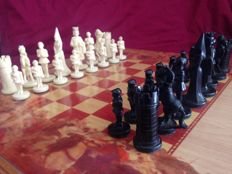 Chess King of Kings, on a wooden board.