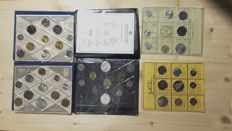 Republic of Italy - Divisional series 1969, 1970, 1980,1981 and 1991 (5 packs)