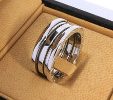 Bulgari B Zero 1 ring 18 kt white gold - 10.6 g, ring size: 60
