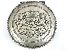 Silver pin with Dutch coat of arms - 76 mm - 39 grams