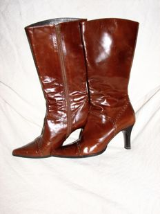Balenciaga Vintage Boots Patent Leather