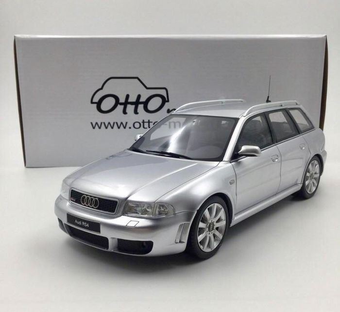 Otto Mobile - Scale 1/18 - Audi RS4 B5 - Silver - Limited Edition of 1500