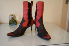 Christian Dior Snakeskin Leather boots