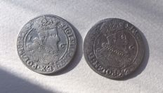 Poland, Gdansk - ort - 2 pieces, 1625 and 1626