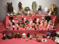 Large collection of 102 owls
