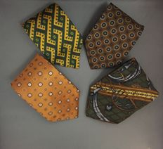 Hermes,Gianfranco Ferre,Ermenegildo Zegna - Ties Lot of 4