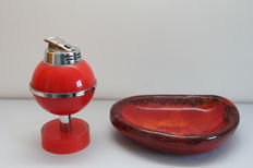 Agnus - lighter and ashtray - Italian design, 1970s