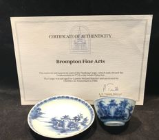 Nanking cargo tea bowls and saucers - China - circa 1750 Christies stickers & certificate