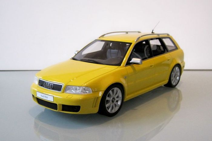 Otto Mobile - Scale 1/18 - Audi RS4 1999 - Yellow - Limited Edition of 2250 units only