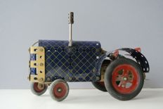Meccano, UK - Length 24 cm - Tractor blue-gold