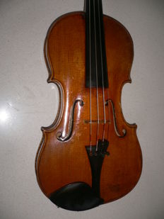 Intact 4/4 violin with label Joh.Bapt.Schweitzer