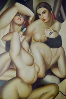 After Tamara De Lempicka (20th century) - Group of four nudes