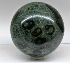 XL Sphere Kambaba or Nebula stone; A-quality; 5 minerals; volcanic origin -120 mm diameter - 965 gm