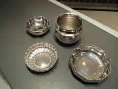 A series of silvery metal bowls - Italy, 1990s