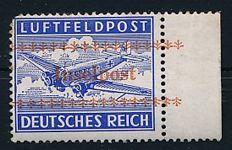 German Reich - 1944 - field post approval stamp for Crete, Michel 7A, approved Petry BPP
