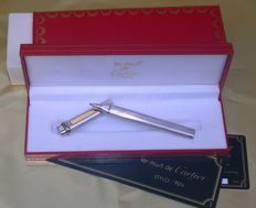 Cartier Paris silver plated ballpoint pen in perfect condition