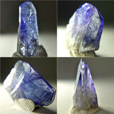 Transparent Terminated Tanzanite Crystals - approx. 15.2 x 9.6 x 4.3 mm each - 19.50 ct (4)
