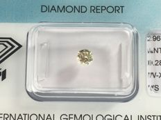 Brilliant cut diamond 0.28 ct W-X Light Yellow with HRD certificate