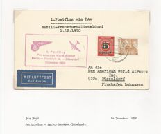 1st Pan American airways flight cover with special cache fine used