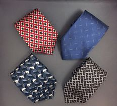 Hermes,Gucci,Dior,Fendi - Ties Lot of 4
