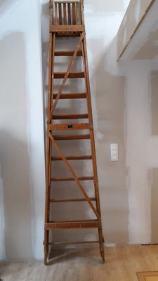Large Dutch library stairs / ladder for painters ca. 1900
