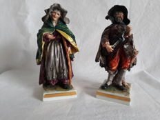 Rudolfstadt Thüringen - A set of two porcelain figurines
