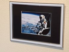 Felix Baumgartner - B.A.S.E. 502 - hand signed framed photo + Certificate of Authenticity (COA)