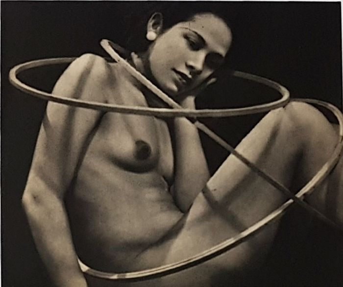 Man Ray (1890-1976) - 'Ady with hoops', c.1937