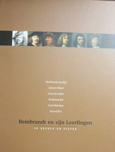 """""""Rembrandt and his apprentices"""" in collection album complete with coins and stamps - SILVER"""