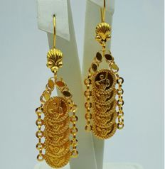 22 Ct  Gold Turkish  Earrings,  New( Unused)