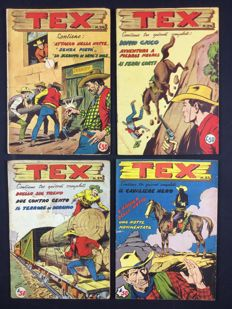 Tex, fortnightly edition - 1st series, x4 issues Albo d'Oro, nos. 26, 28, 35, 38 (1953)