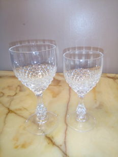 12 glasses made of pure crystal - model Honeycomb with facets