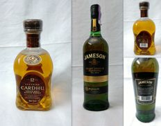 2 bottles - Cardhu 12 years old & Jameson Select Reserve Small Batch