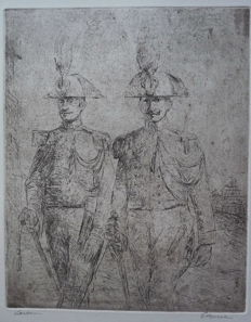 2 Italian soldiers or so-called  Carabinieri