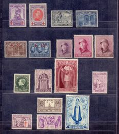 Belgium 1849/1944 - Broad collection in Leuchtturm album - between OBP 108 and 696