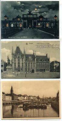 Belgium, views of villages and towns, 1900-1945, 130x