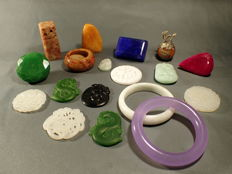A very nice collection mineral stones and craftings - 756 g (18)