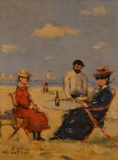 Unknown artist (20th century) - Dames op het strand