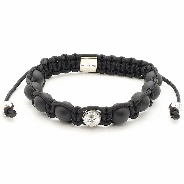 Klitzing jewels - shamballa bracelet with 0.11 ct black diamonds, 925 full silver - size 18-20 cm - no reserve price!